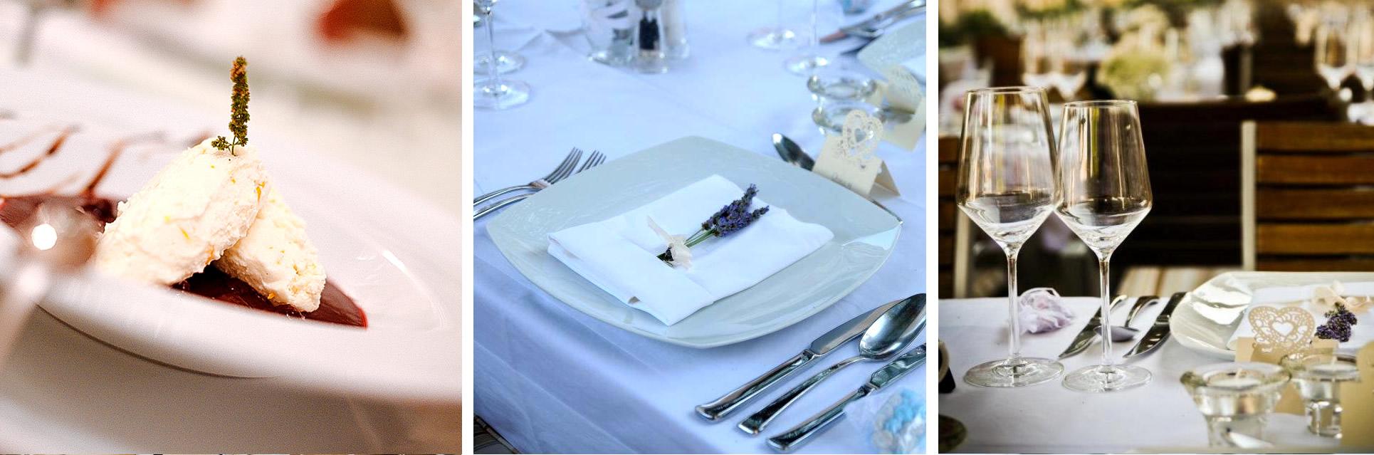 Restaurant Park Weddings – set menu